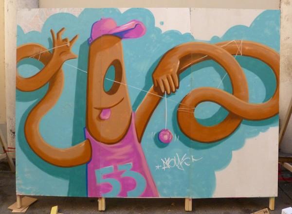 graff'ik art 2015 Mr Würst