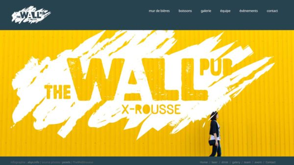 the wall PUB x-rousse