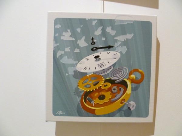 suspending clock – illustration horloge