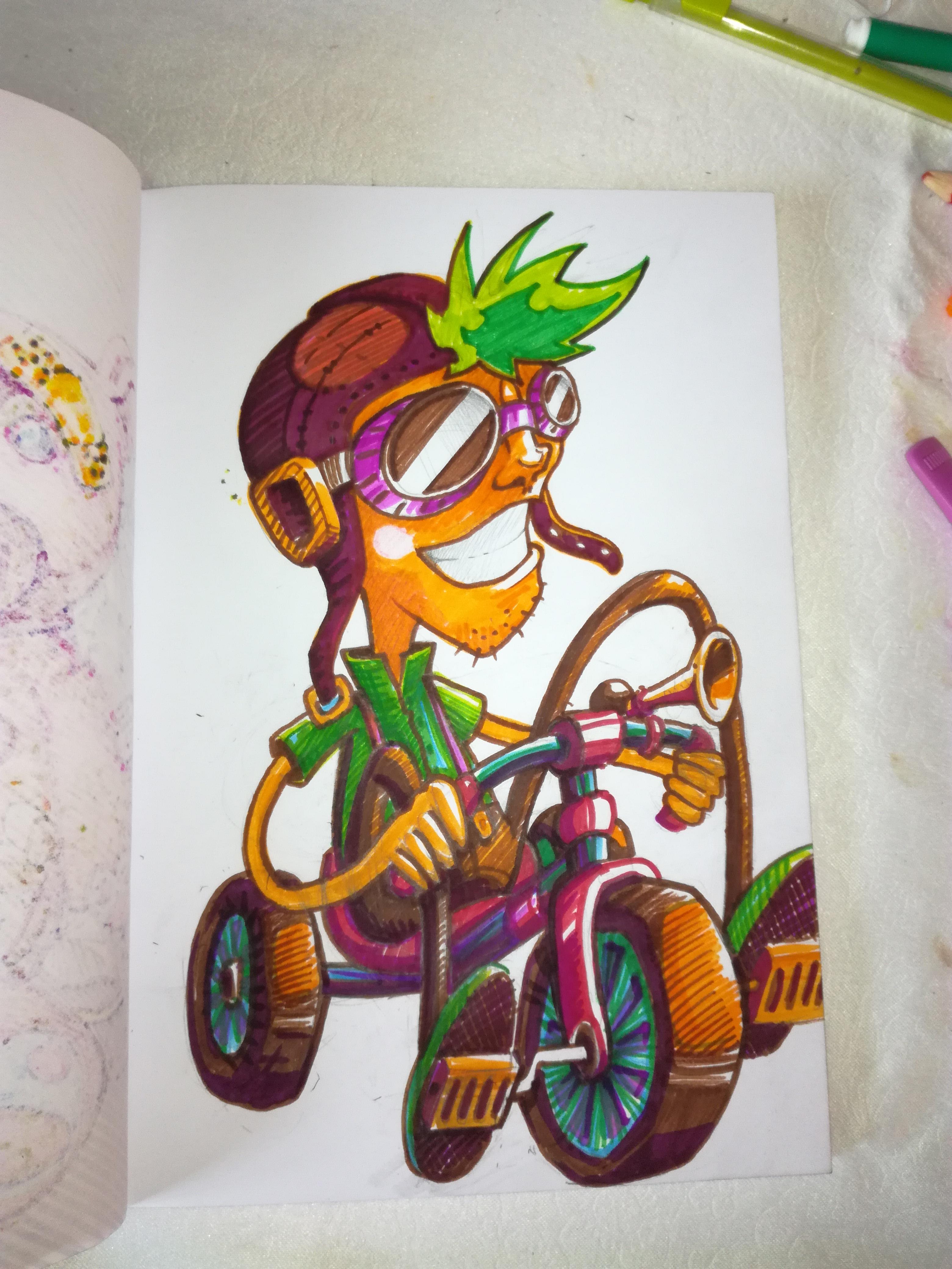 abys - da lyon -illustration enfant velo bike