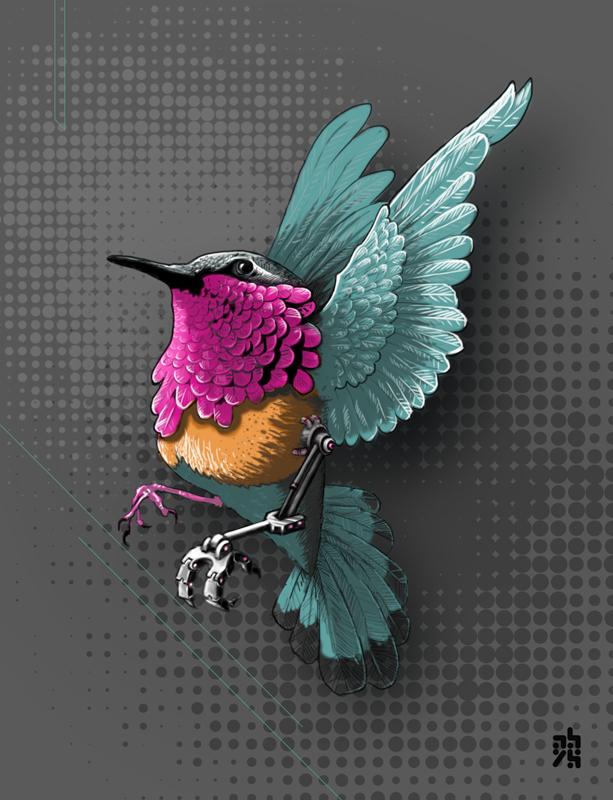 col-hybrid - abys illustration graphiste lyon direction artistique