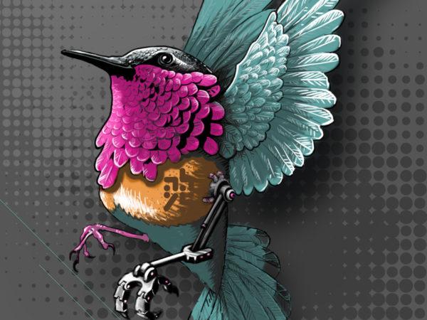abys-illustration -digital- streetart lyon ebreed colibri