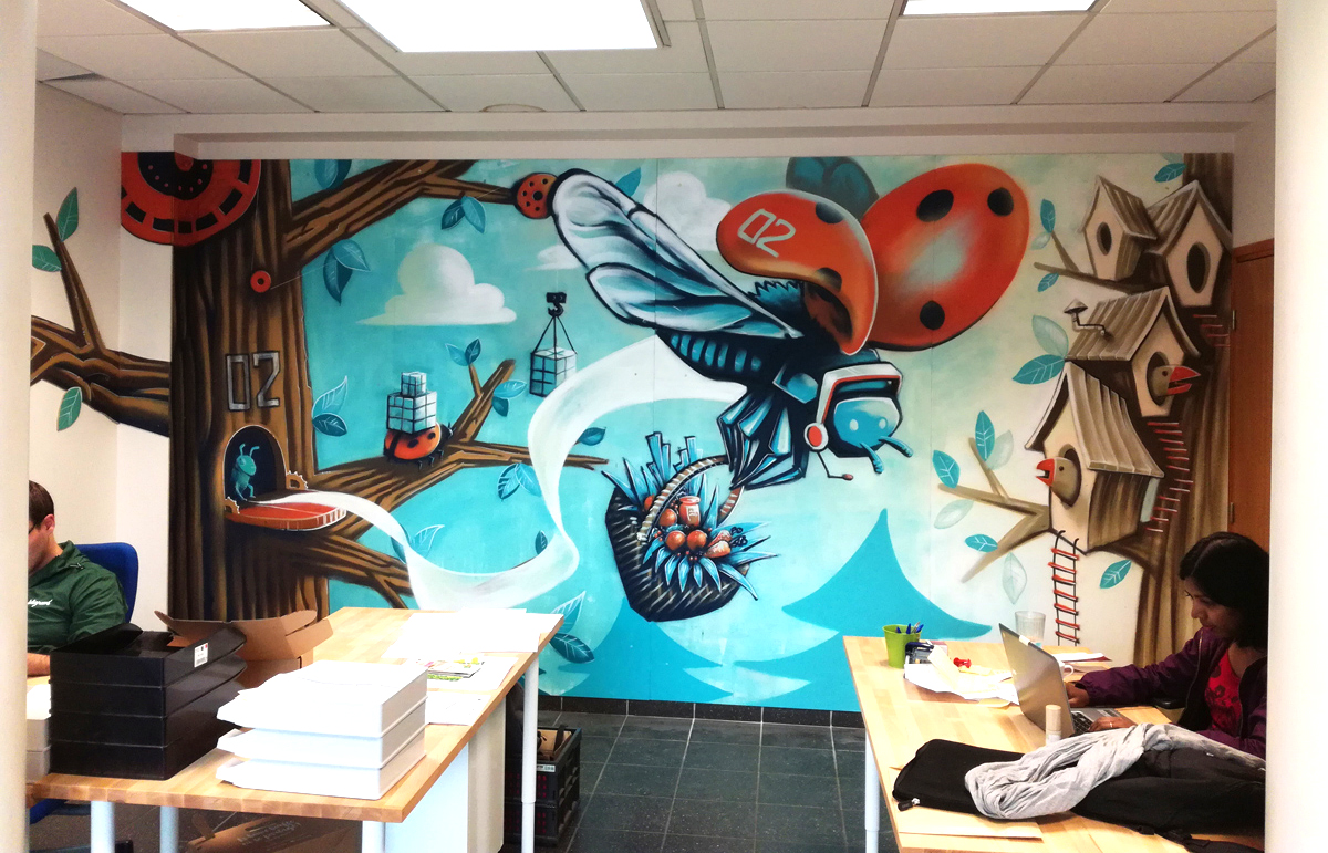 abys - da lyon - graphiste streetart bird deligreen bureaux office