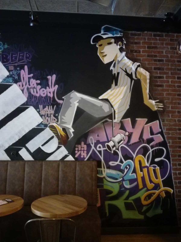 the WALL pub – déco