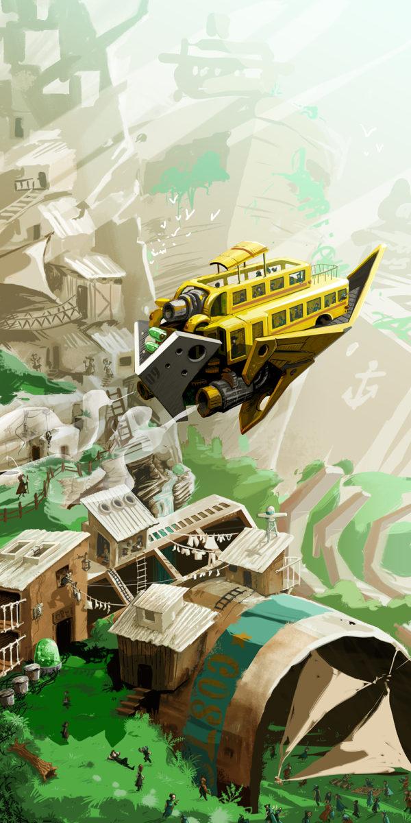 schoolbus – concept-art lowtech