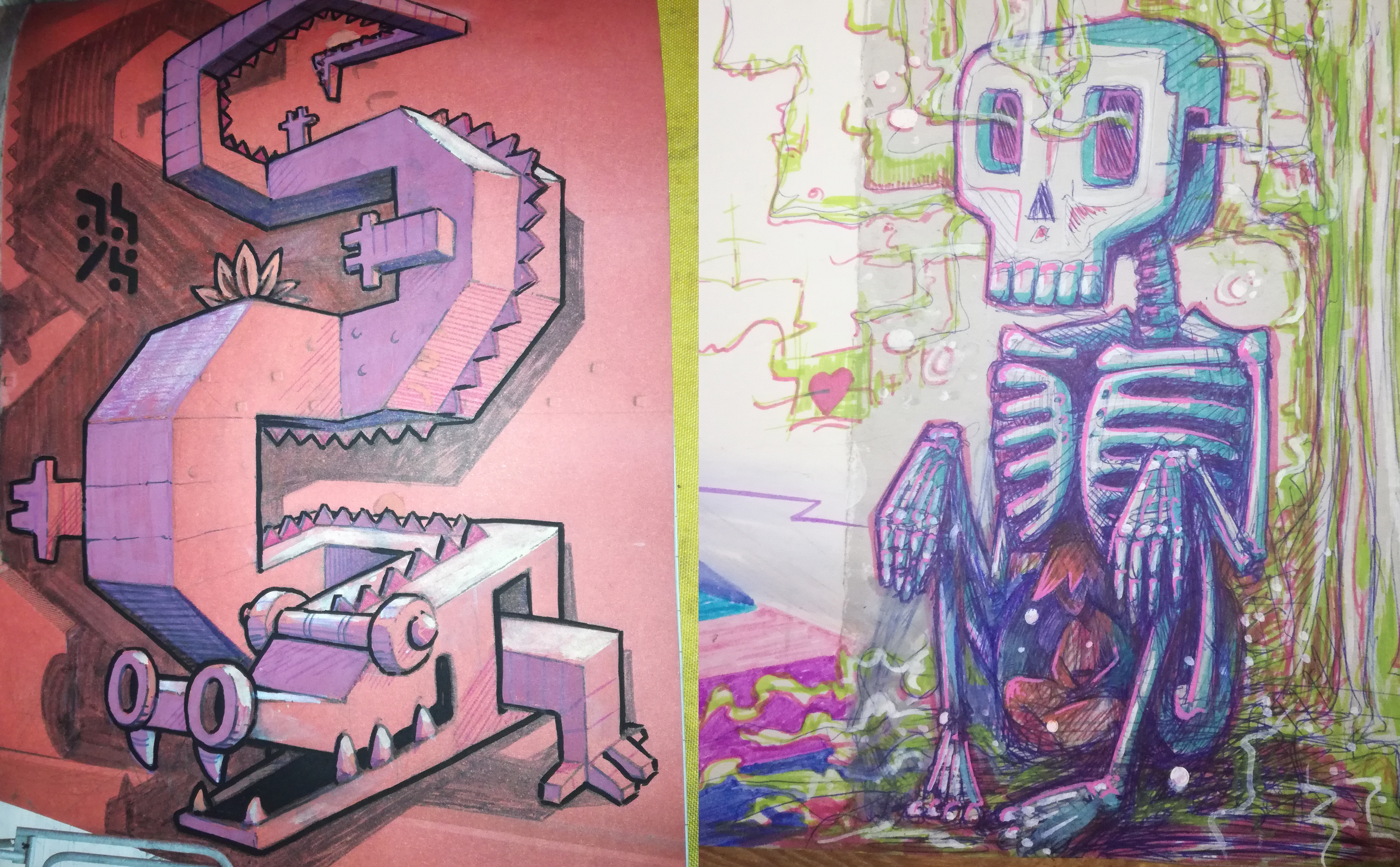 abys - da lyon - illustration sketch idoll ayahuasca