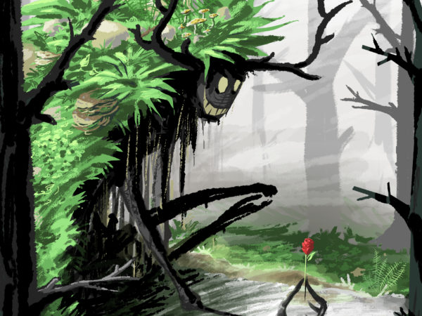 abys - da lyon - illustration kids final digital painting - fairy tail and the red