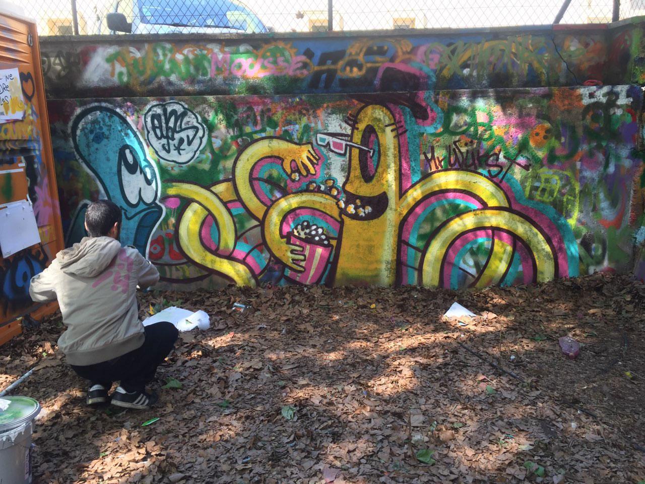street-artiste - graphiste - da lyon - abys peinture fraiche festival