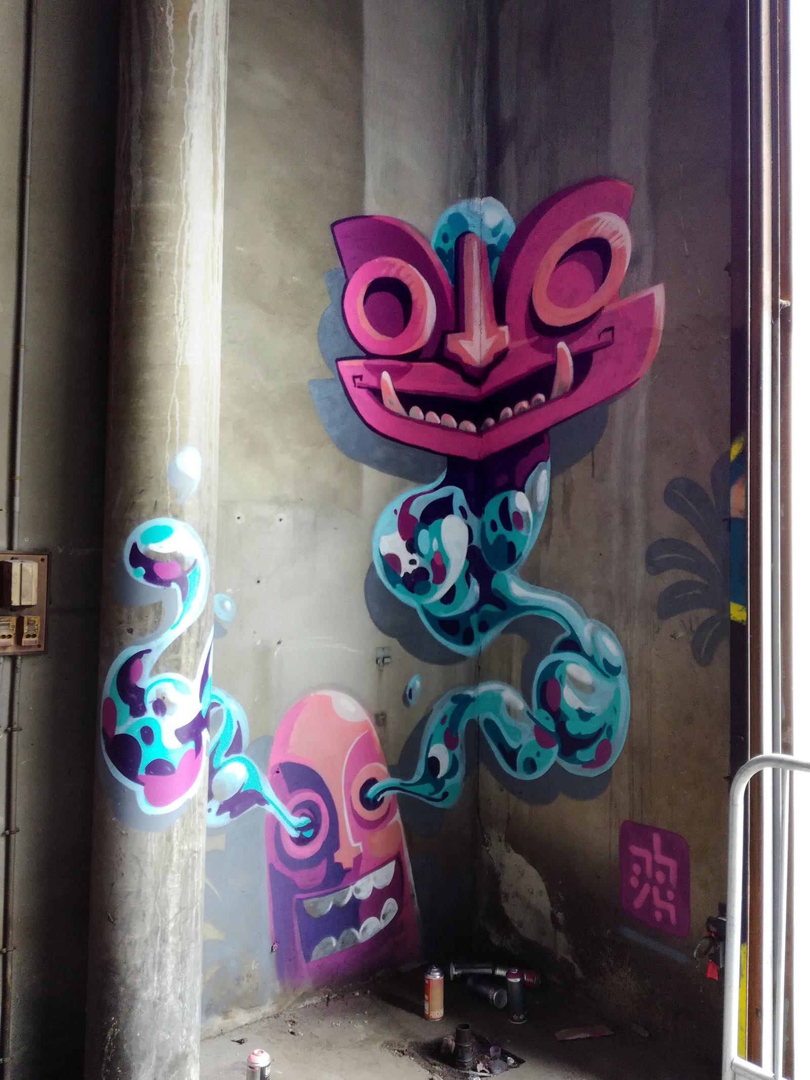 abys street-artiste - graphiste - da lyon - @peinturefraichefestival - #peinturefraichefestival