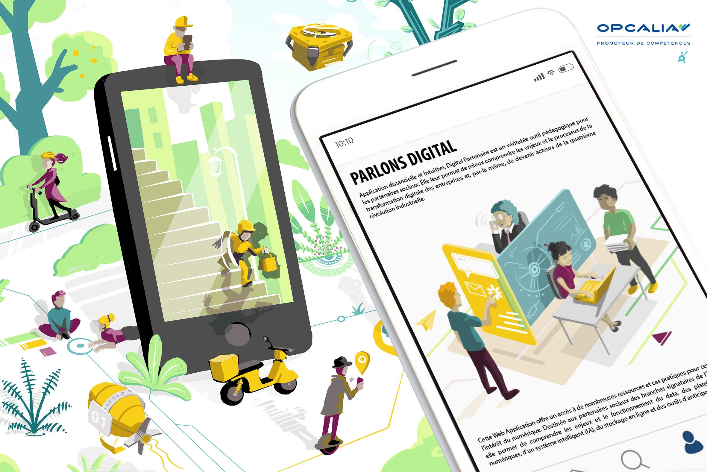 Application digitale -illustrateur-graphiste-lyon -abys