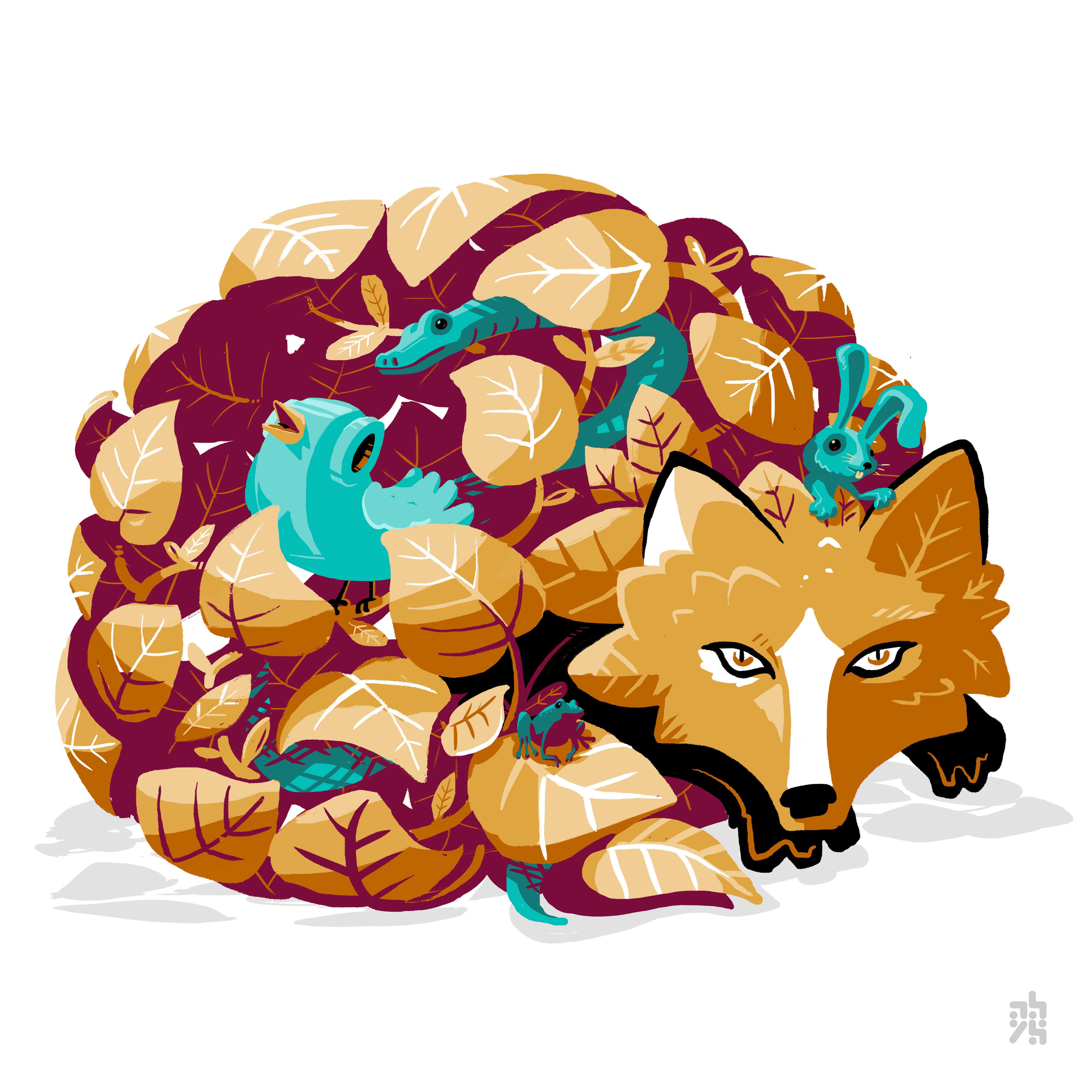 abys-illustration numerique -lyon fox meta bird