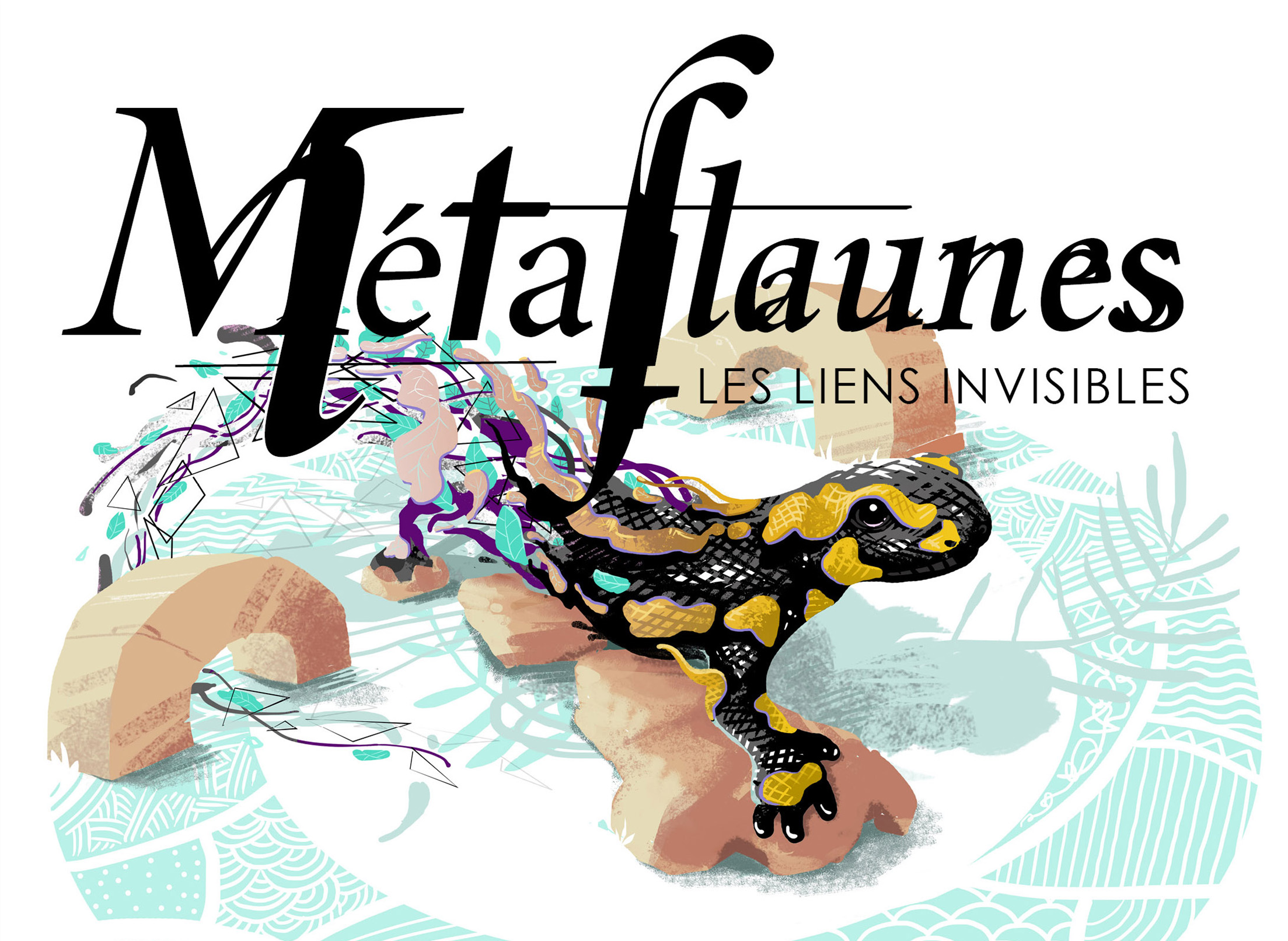 abys-illustration digital - streetart-lyon metaflaunes animals deco
