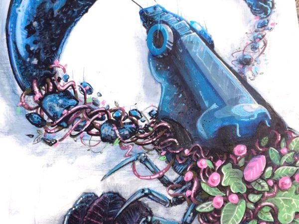 abys- illustration streetart lyon posca omart canvas meta