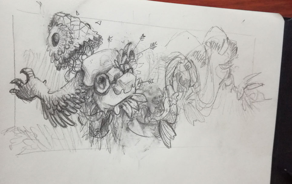 abys-illustrateur-rough-lyon sketch