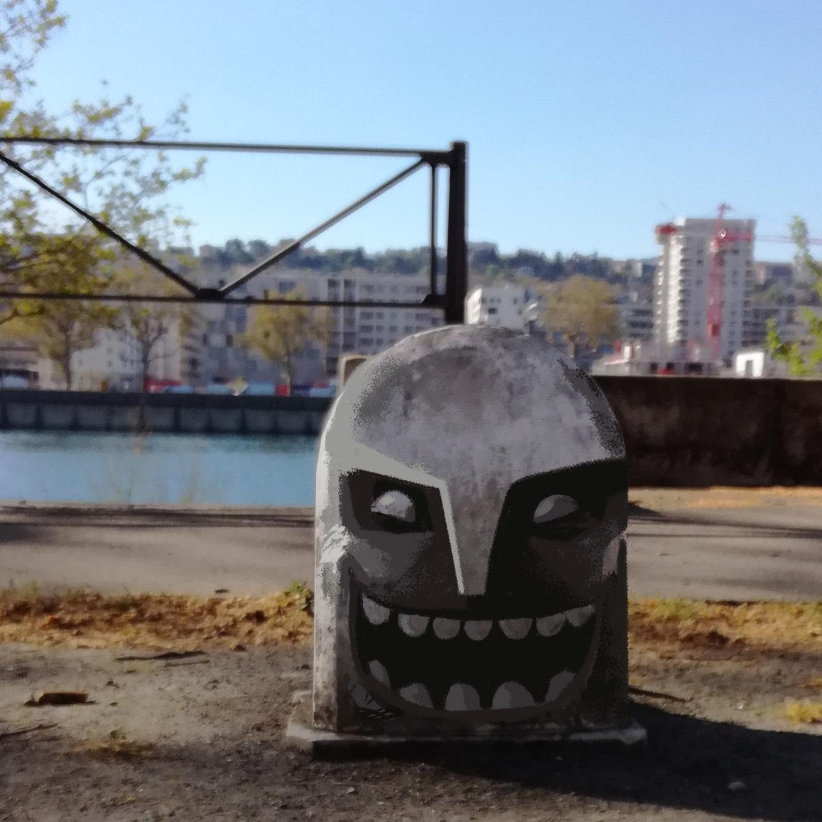 fake streetart - réalité augmenté - idoll d.a. -illustrateur-graphiste-lyon -abys digital painting