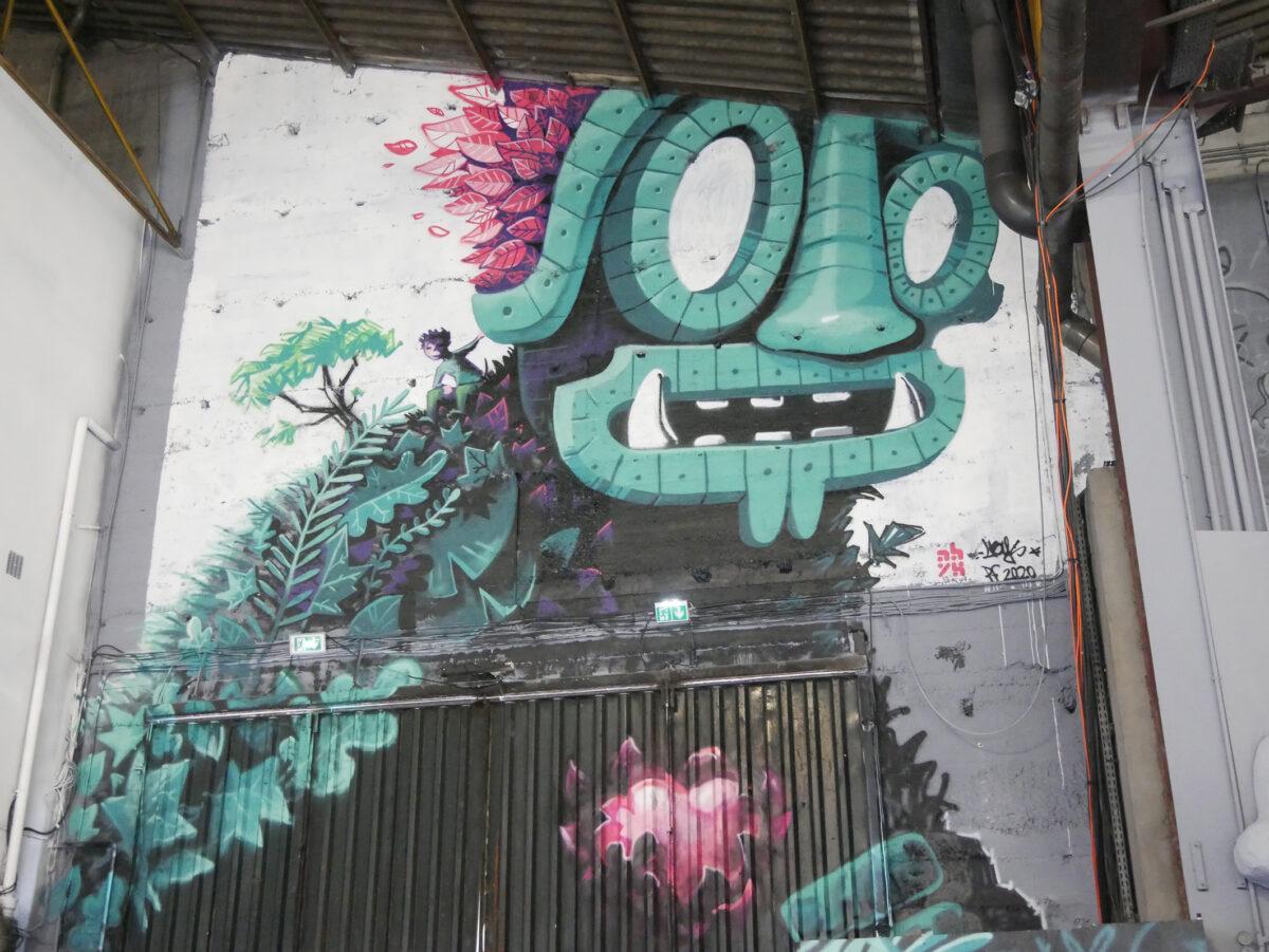 graffiti peinture fraiche festival - streetart lyon - colosse de jade