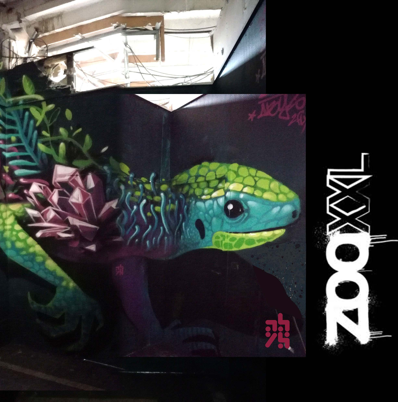 graffiti abys2fly - oneagain - zoo art show lyon xxl abys