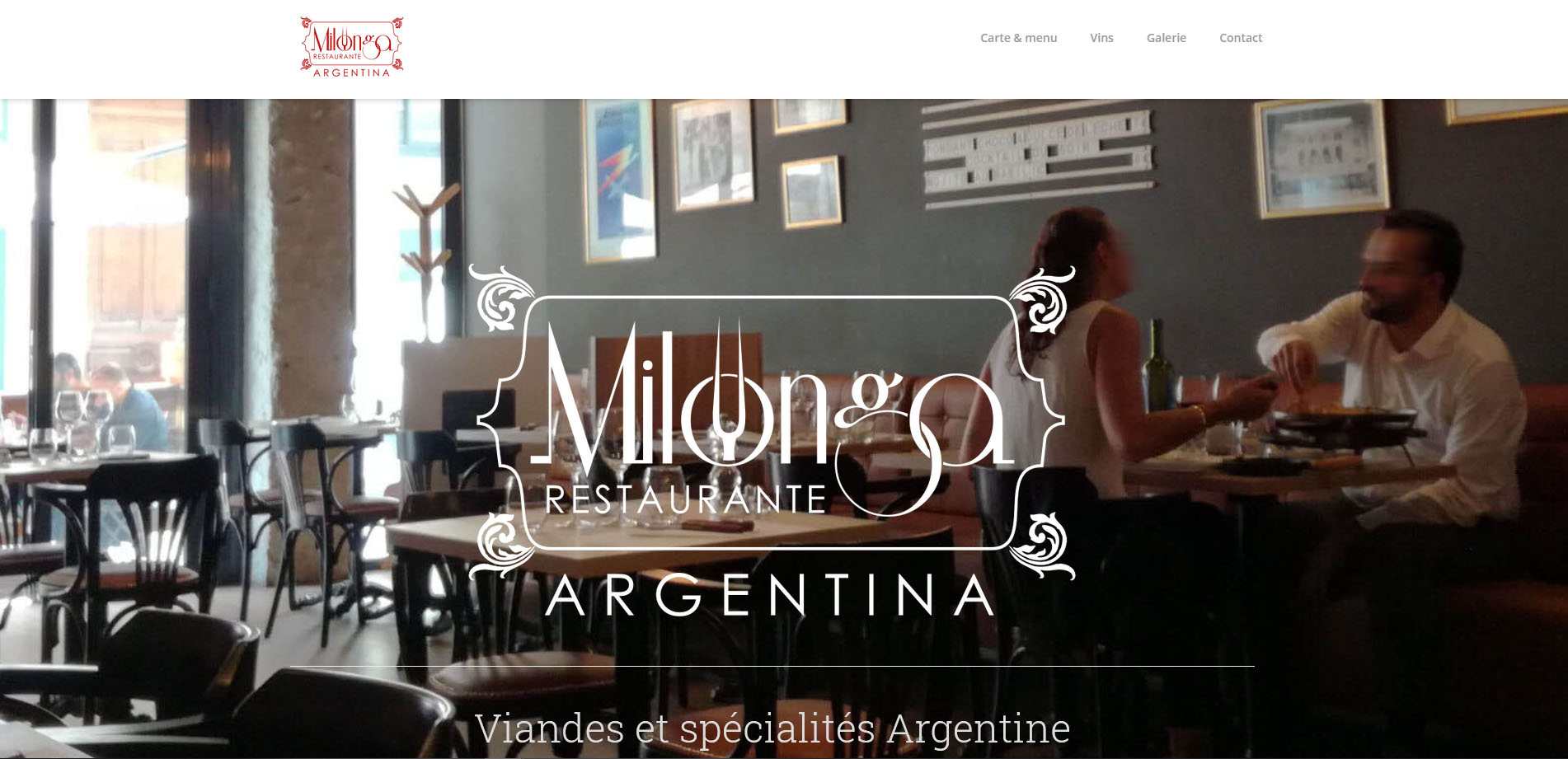 restaurant milonga lyon viande argentine amerique latine abys - webdesign - site internet