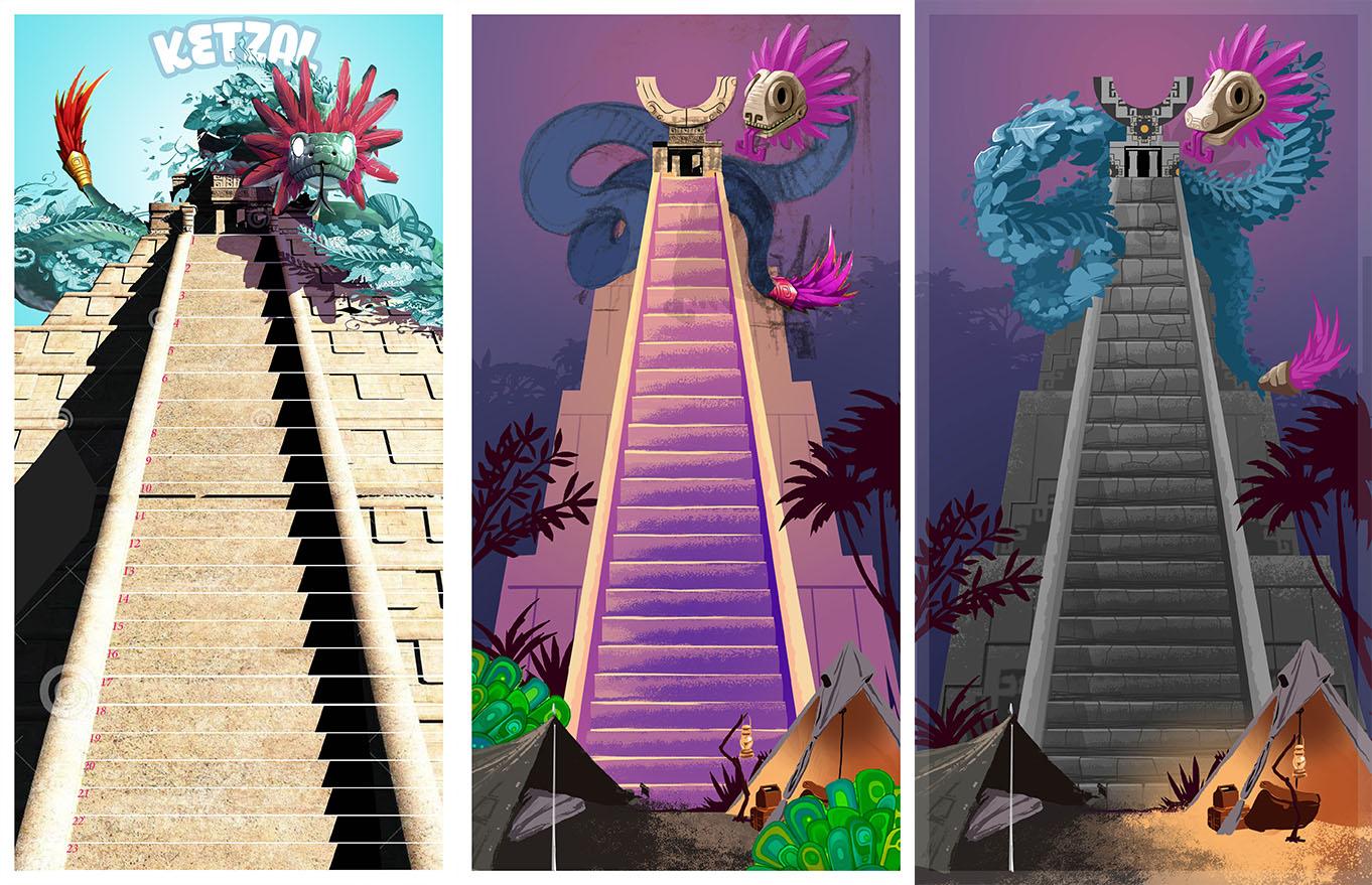 sketch - croquis esquisses - jeu de société - game - illustration - azteque-maya - chocolat - infographie - graphiste lyon - abys