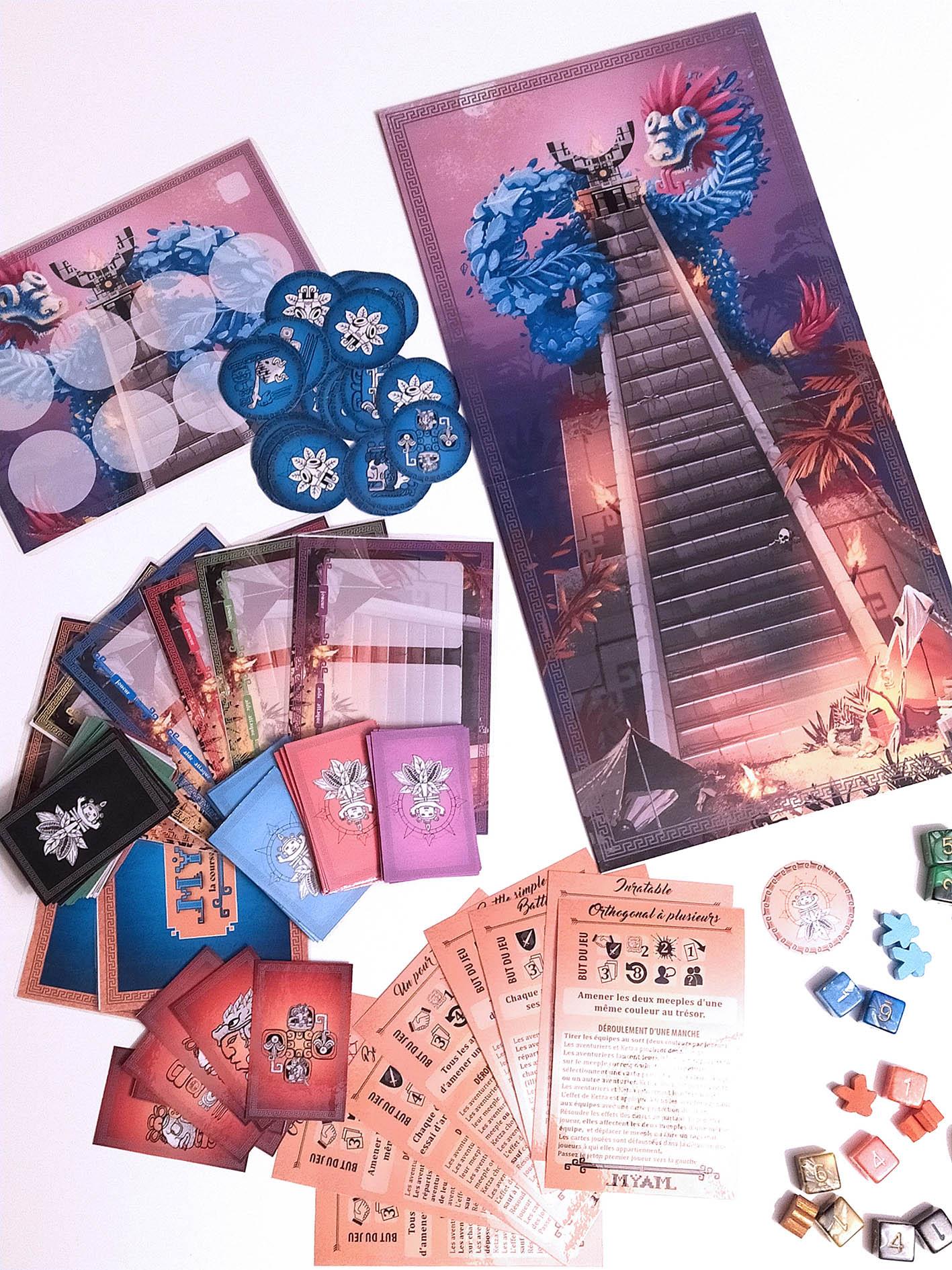 jeu de société - game - illustration - azteque-maya - chocolat - infographie - graphiste lyon - abys