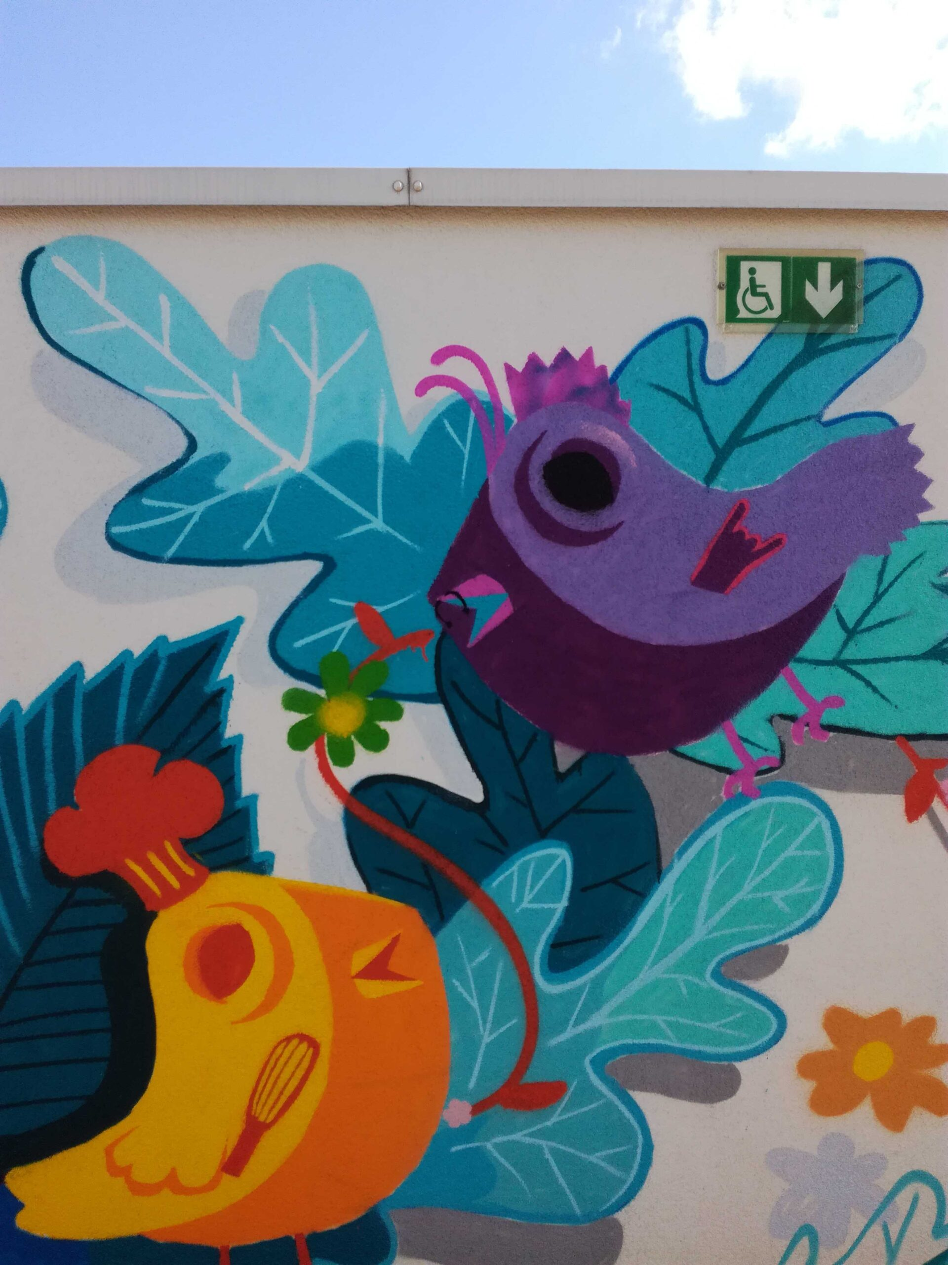 hopital de jour nuance winicott - decoration murale Chalon Saint-remy-abys 2fly graffitti atelier